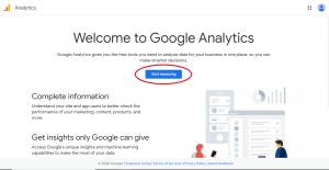 مرحله سوم راه اندازی گوگل انالیتیکس برای وب سایت