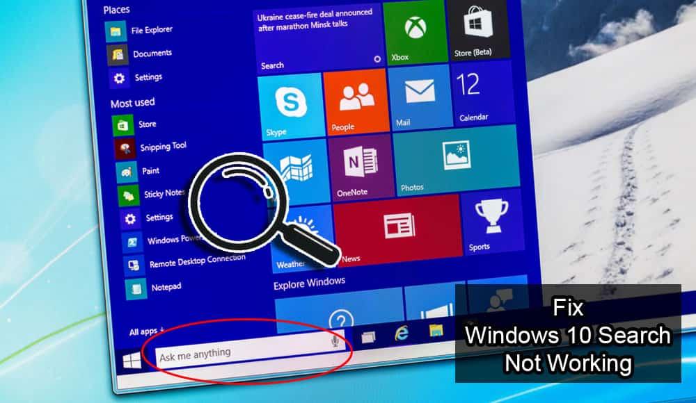 حل مشکل عدم نمایش نتیجه در جستجو ویندوز